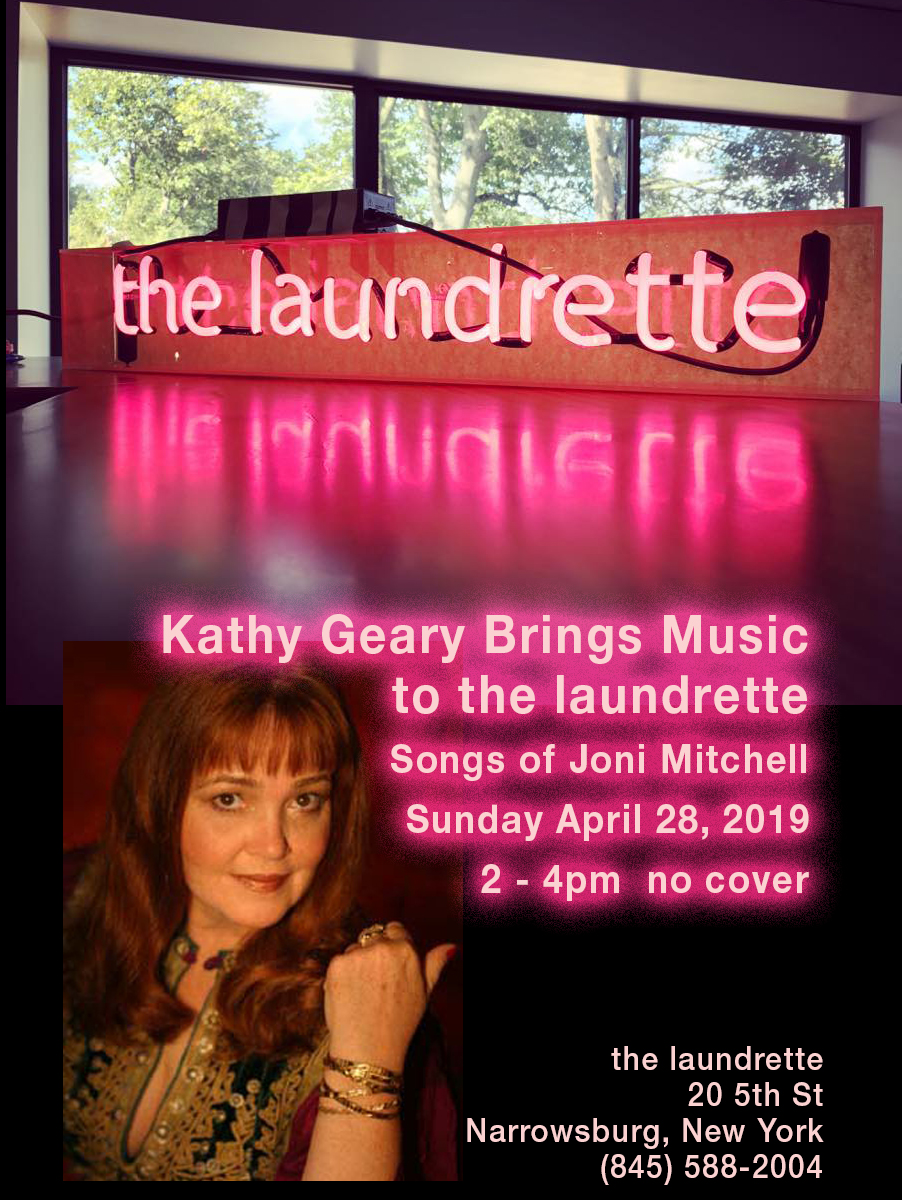 Kathy Geary at the laundrette April 28 2-4pm